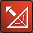 inclinatie-en-hoek-rood-badge