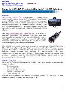 Sensor Tip 3DM-GX3-45 Bluetooth