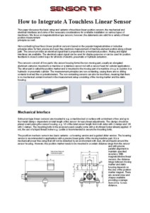 Sensor Tip Touchless Linear Sensor