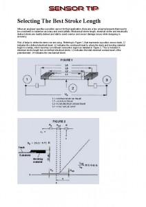 Sensor Tip Stroke Length